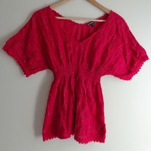 Express Top with Crochet Detail